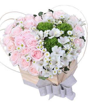 Giỏ hoa hồng phấn rất đẹp